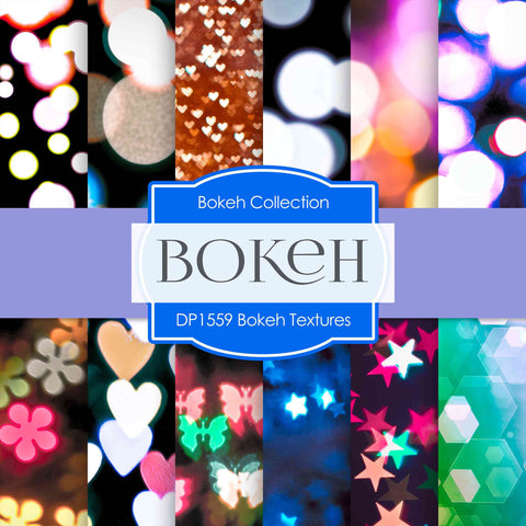 Bokeh Textures Digital Paper DP1559 - Digital Paper Shop - 1