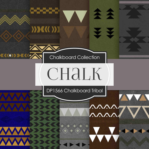 Chalkboard Tribal Digital Paper DP1566 - Digital Paper Shop - 1