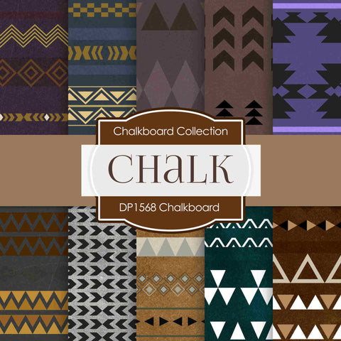 Chalkboard Tribal Digital Paper DP1568 - Digital Paper Shop - 1