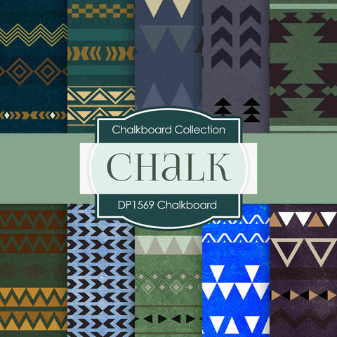Chalkboard Tribal Digital Paper DP1569 - Digital Paper Shop - 1