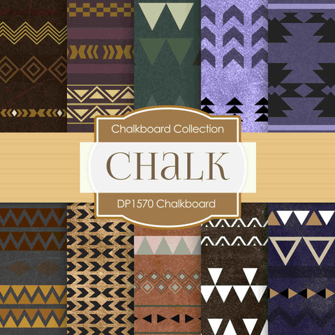 Chalkboard Tribal Digital Paper DP1570 - Digital Paper Shop - 1