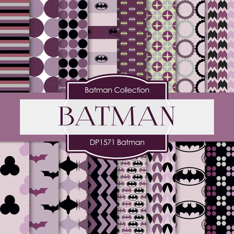 Batman Digital Paper DP1571 - Digital Paper Shop - 1