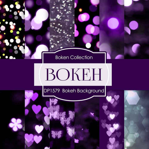 Bokeh Background Digital Paper DP1579 - Digital Paper Shop - 1