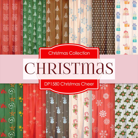 Christmas Cheer Digital Paper DP1580 - Digital Paper Shop - 1
