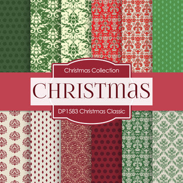 Christmas Classics Digital Paper DP1583 - Digital Paper Shop - 1
