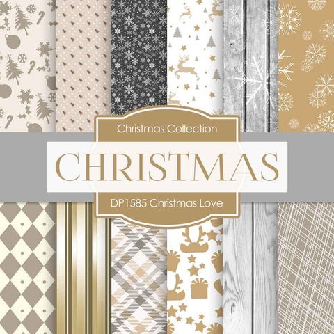 Christmas Love Digital Paper DP1585 - Digital Paper Shop - 1