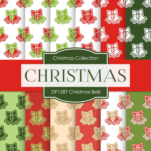 Christmas Bells Digital Paper DP1587 - Digital Paper Shop - 1