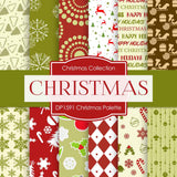 Christmas Palette Digital Paper DP1591 - Digital Paper Shop - 1