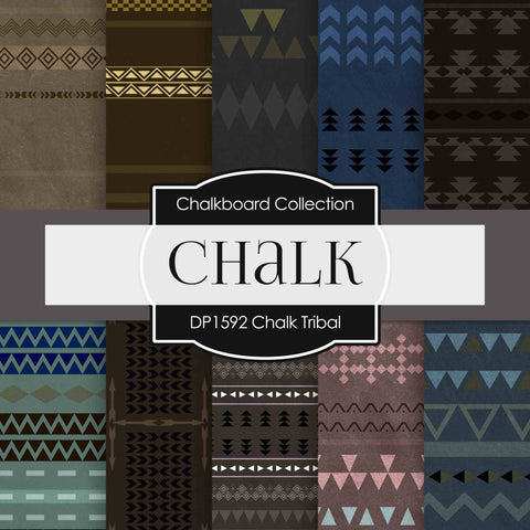 Chalk Tribal Digital Paper DP1592 - Digital Paper Shop - 1