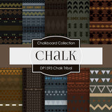 Chalk Tribal Digital Paper DP1593 - Digital Paper Shop - 1