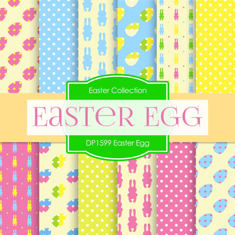Easter Egg Digital Paper DP1599 - Digital Paper Shop - 1