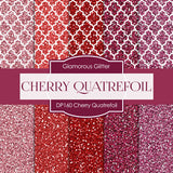 Cherry Quatrefoil Digital Paper DP160 - Digital Paper Shop - 1