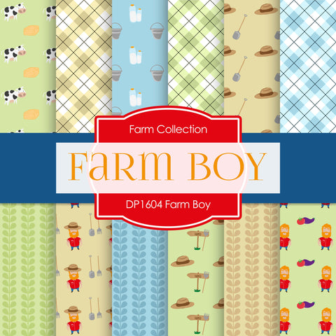 Farm Boy Digital Paper DP1604 - Digital Paper Shop - 1