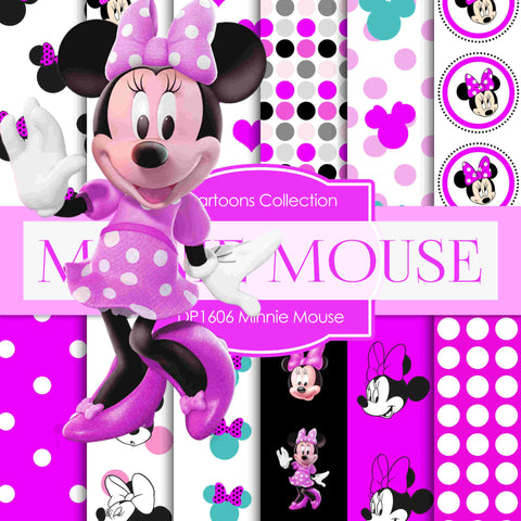 Minnie Mouse Digital Paper DP1606 - Digital Paper Shop - 1