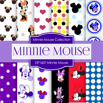 Minnie Mouse Digital Paper DP1607 - Digital Paper Shop - 1