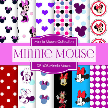 Minnie Mouse Digital Paper DP1608 - Digital Paper Shop - 1