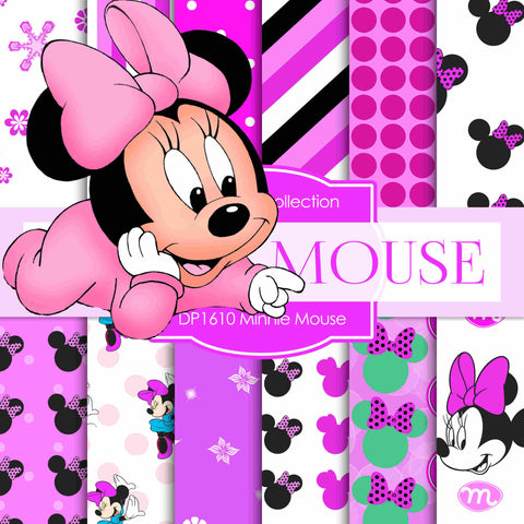 Minnie Mouse Digital Paper DP1610 - Digital Paper Shop - 1
