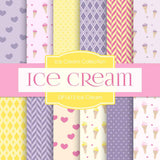 Ice Cream Digital Paper DP1612 - Digital Paper Shop - 1