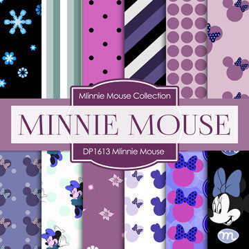 Minnie Mouse Digital Paper DP1613 - Digital Paper Shop - 1