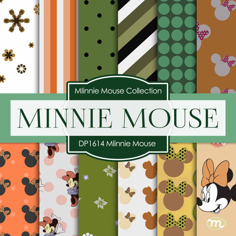 Minnie Mouse Digital Paper DP1614 - Digital Paper Shop - 1