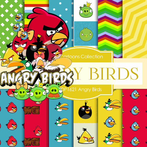 Angry Birds Digital Paper DP1621 - Digital Paper Shop - 1