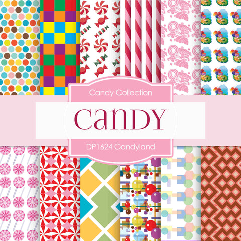 Candy Land Digital Paper DP1624 - Digital Paper Shop - 1