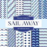 Sail Away Boy Digital Paper DP1628 - Digital Paper Shop - 1