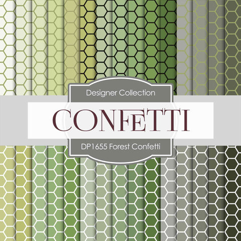 Forest Confetti Digital Paper DP1655 - Digital Paper Shop - 1