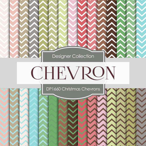 Christmas Chevrons Digital Paper DP1660 - Digital Paper Shop - 1
