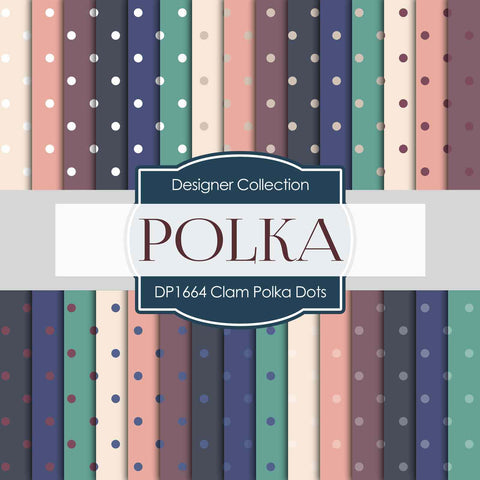 Clam Polka Dots Digital Paper DP1664 - Digital Paper Shop - 1