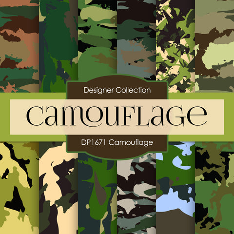 Camouflage Digital Paper DP1671A