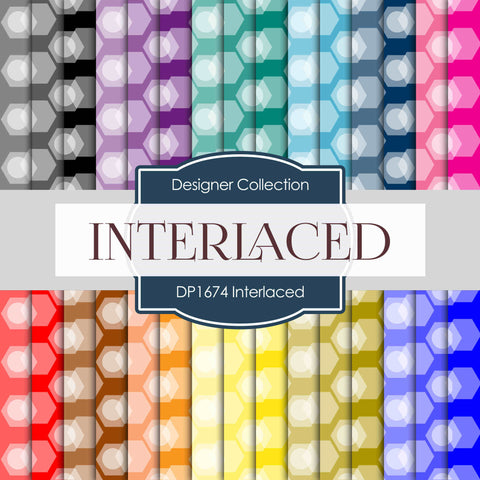 Interlaced Digital Paper DP1674 - Digital Paper Shop - 1