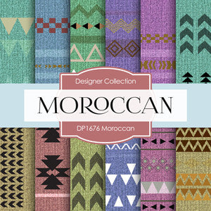 Moroccan Digital Paper DP1676 - Digital Paper Shop - 1