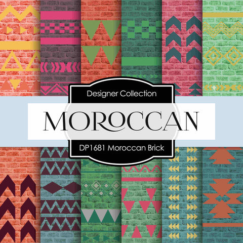 Moroccan Brick 2 Digital Paper DP1681 - Digital Paper Shop - 1