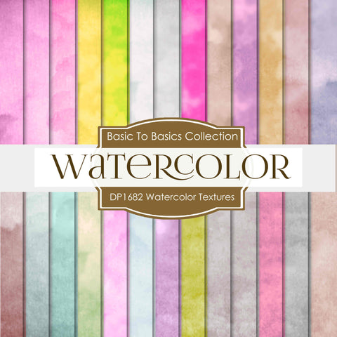Watercolor Textures Digital Paper DP1682 - Digital Paper Shop - 1