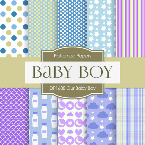 Our Baby Girl Digital Paper DP1688 - Digital Paper Shop - 1