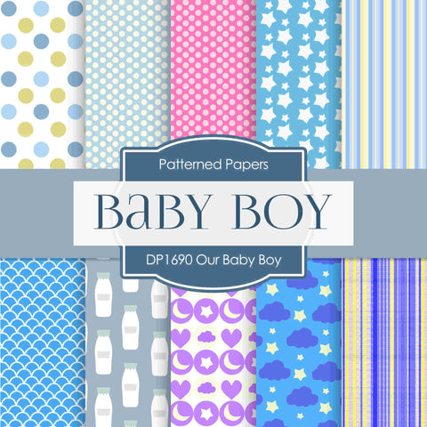 Our Baby Girl Digital Paper DP1690 - Digital Paper Shop - 1