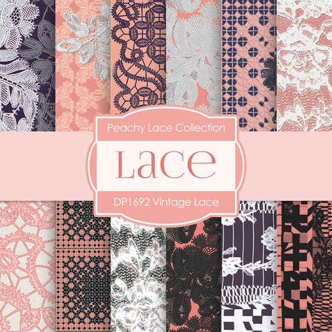 Lace Digital Paper DP1692 - Digital Paper Shop - 1
