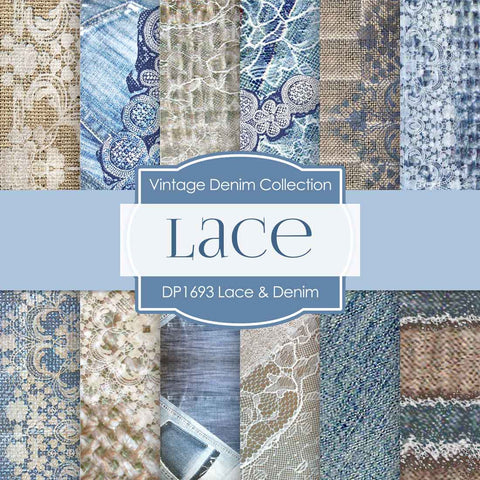 Vintage Lace Digital Paper DP1693 - Digital Paper Shop - 1