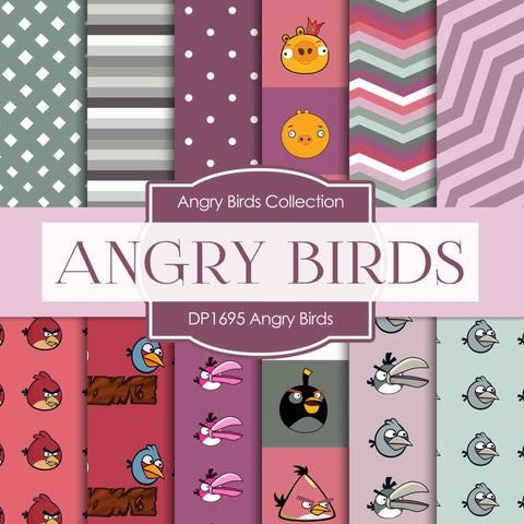 Angry Birds Digital Paper DP1695 - Digital Paper Shop - 1