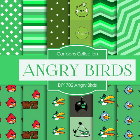 Angry Birds Digital Paper DP1702 - Digital Paper Shop - 1