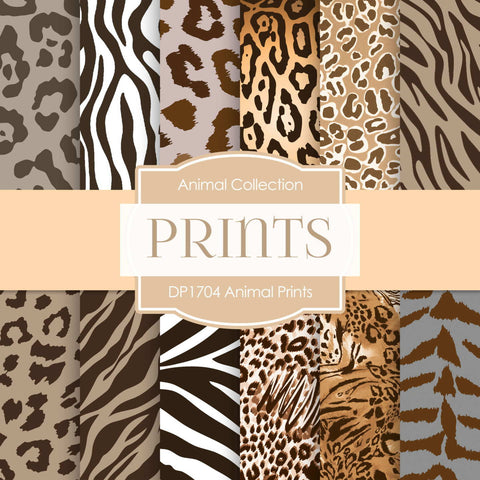 Animal Prints Digital Paper DP1704 - Digital Paper Shop - 1
