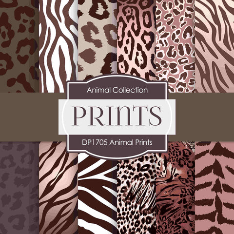 Animal Prints Digital Paper DP1705 - Digital Paper Shop - 1