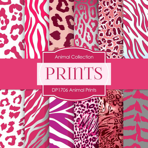 Animal Prints Digital Paper DP1706 - Digital Paper Shop - 1