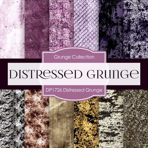 Distressed Grunge Digital Paper DP1726 - Digital Paper Shop - 1