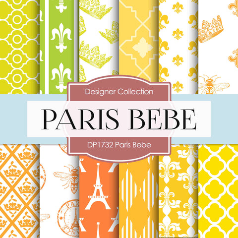 Paris Bebe Digital Paper DP1732 - Digital Paper Shop - 1