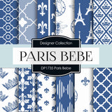 Paris Bebe Digital Paper DP1735 - Digital Paper Shop - 1