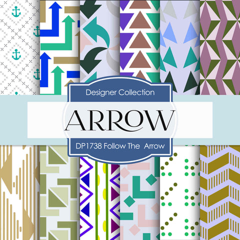 Follow The Arrow Digital Paper DP1738 - Digital Paper Shop - 1