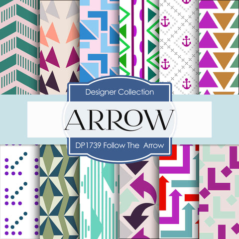 Follow The Arrow Digital Paper DP1739 - Digital Paper Shop - 1
