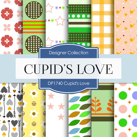 Cupid's Love Digital Paper DP1740 - Digital Paper Shop - 1